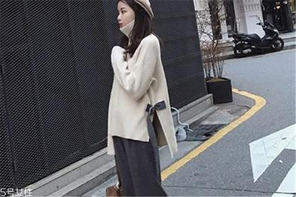 秋季高领毛衣搭配图片 各种风格都有