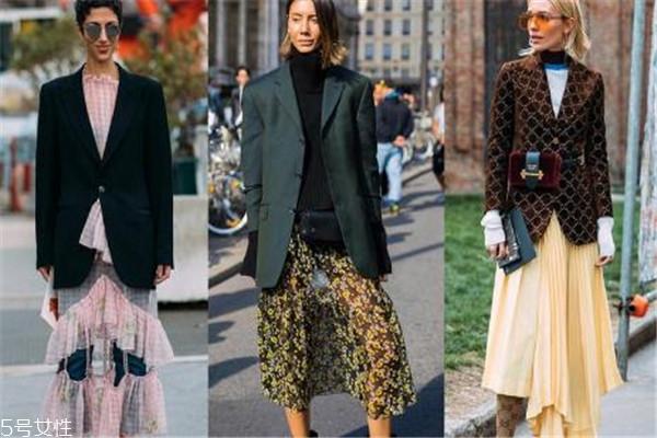 过膝裙子怎么搭配 秋季浪漫风情