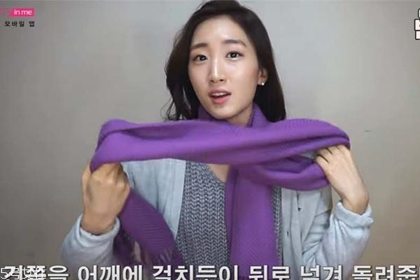 围巾打法图解 围巾怎么打好看 韩式流行围巾打法图解