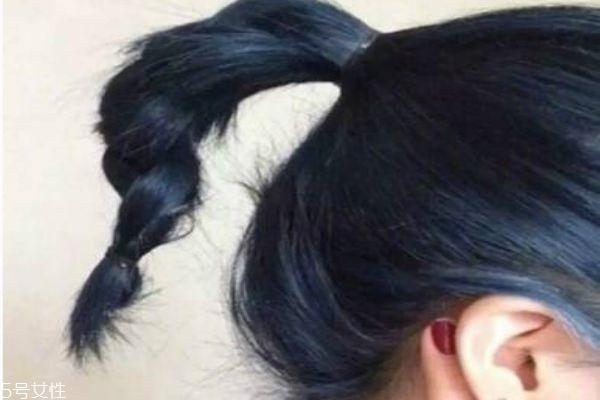 蓝黑色是什么颜色 蓝黑色头发图片