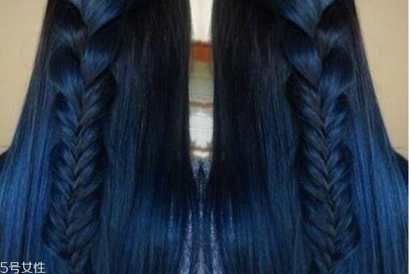 蓝黑色头发怎么染 蓝黑色头发配方