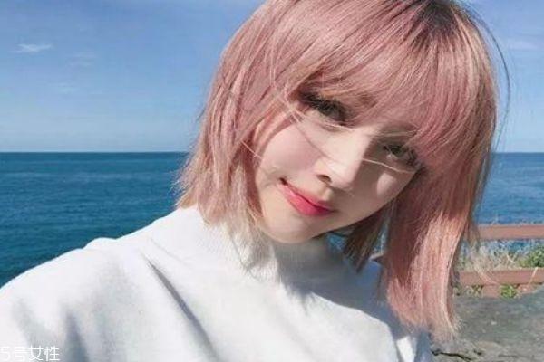 玫瑰金发色显白吗 玫瑰金发色掉色后图片