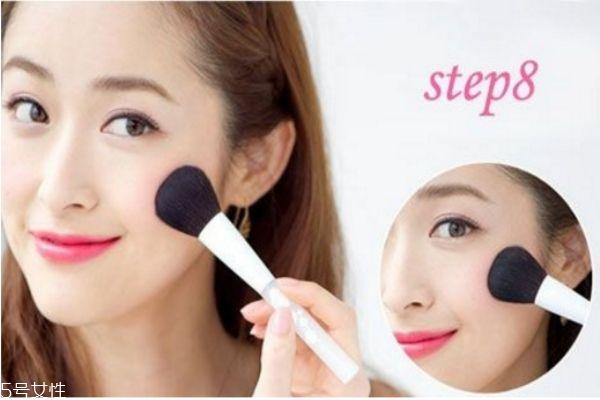 日系少女妆容画法 日本世界杯手机投注网站粉嫩妆容