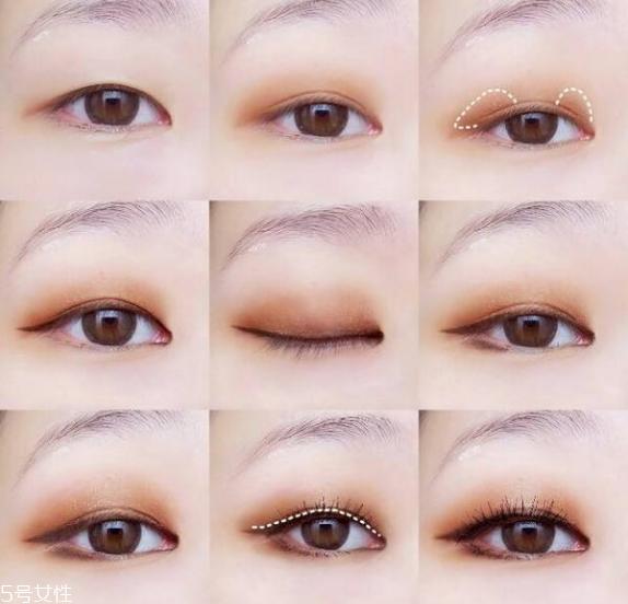 大地色眼影的画法步骤图解 大地色眼影教程