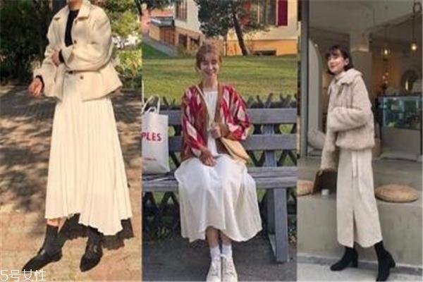 白色半身裙配什么上衣 韩系世界杯手机投注网站都这样穿