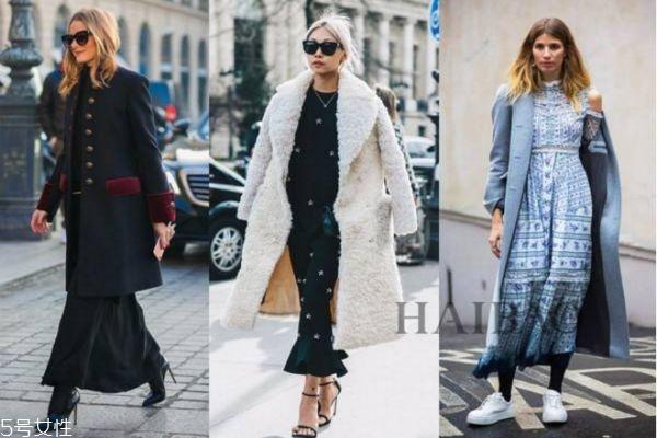 冬天大衣怎么搭配裙子 冬季大衣裙子搭配