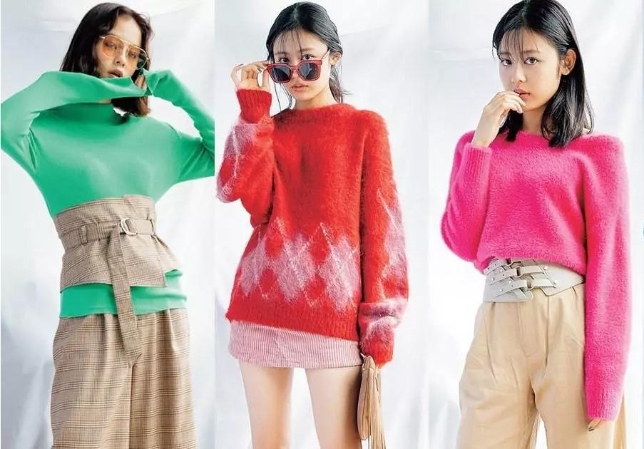 彩色针织衫怎么搭配 单穿就简单有型