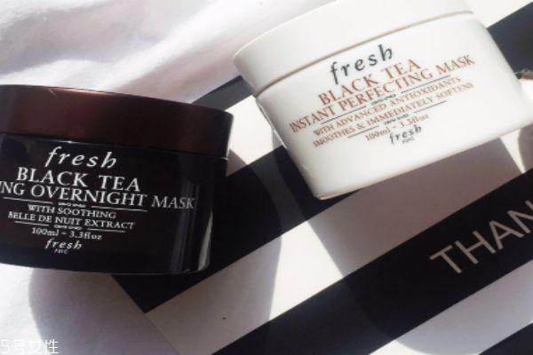 fresh红茶睡眠面膜搓泥 注意去角质