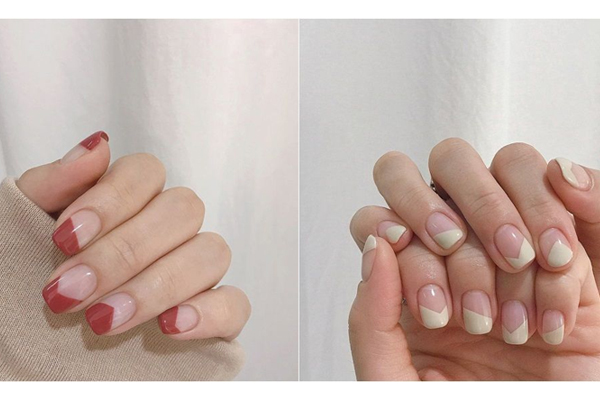 留白指甲图片 最省钱的留白美甲