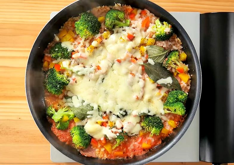 红酱起司炖饭的做法 简易步骤图解