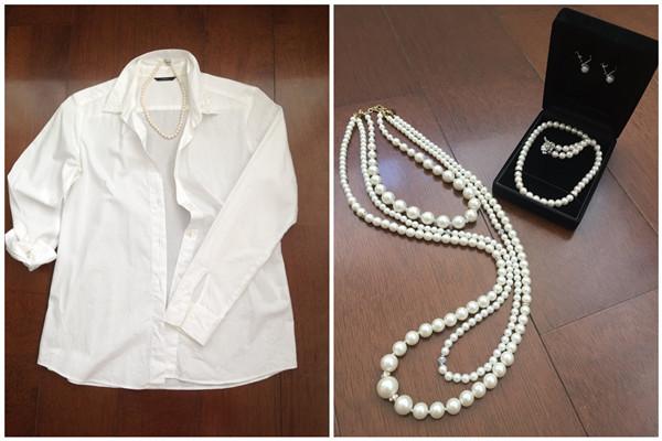 珍珠项链怎么搭配衣服才好看