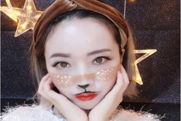 2018圣诞节创意妆容教程 圣诞小鹿妆