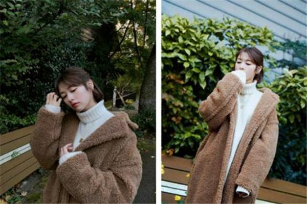 羊羔毛外套搭配图片 过冬保暖又百搭