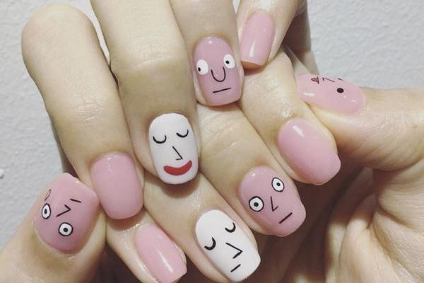 粉色系美甲图片2019 初恋粉色系美甲
