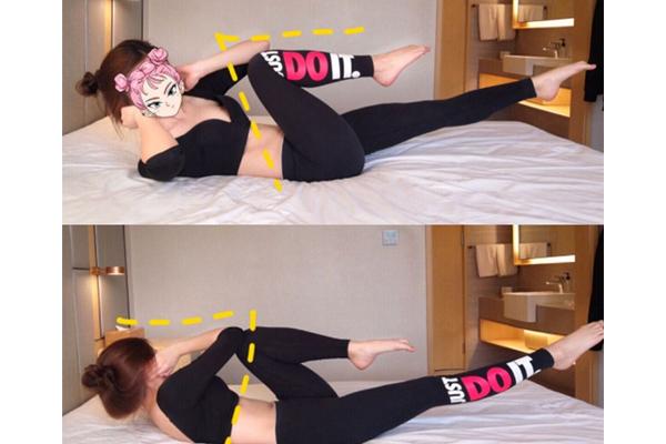 躺着做的减肥运动视频图片