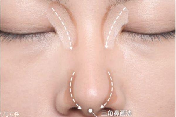 修容棒怎么画鼻子 鼻影的画法图解