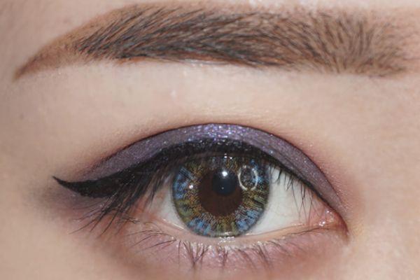 蓝紫色眼影画法 蓝紫色日常眼影画法