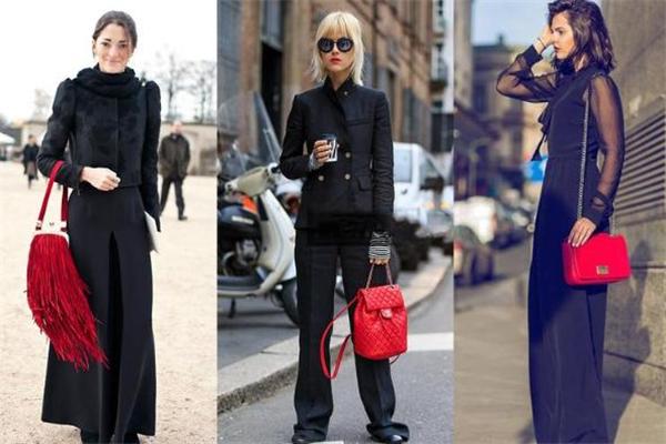 黑色衣服配什么颜色包包好看 女人味十足