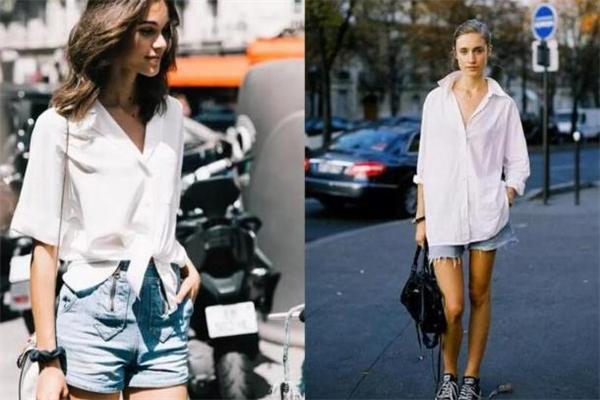 夏天白衬衫怎么搭配 优雅性感风穿搭