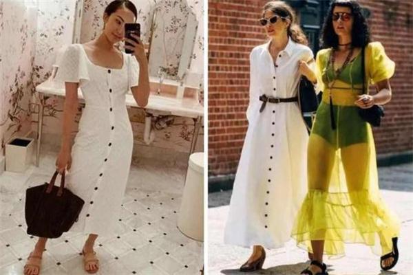 2019年流行什么样的小白裙 夏季美到发光