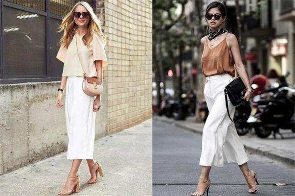 白色长裤怎么搭配 白色长裤搭配图片
