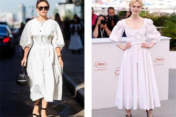 泡泡袖连衣裙什么颜色好看 泡泡袖连衣裙时髦穿搭