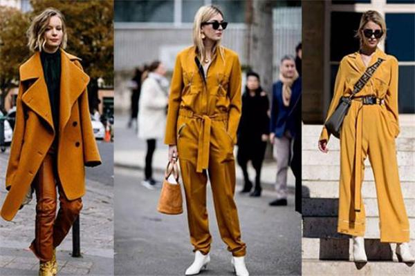 姜黄色上衣配什么颜色裤子好看 姜黄色上衣搭配图片