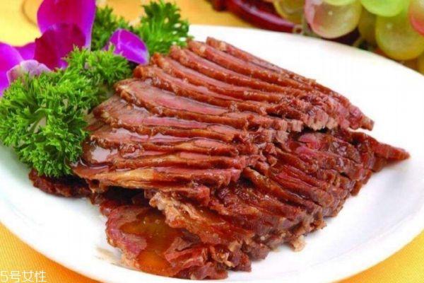 酱牛肉怎么切薄片不碎图片