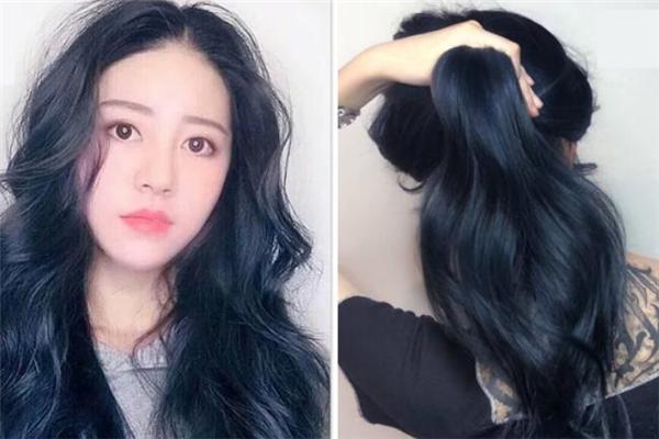 黑蓝色是什么颜色 黑蓝色头发怎么染