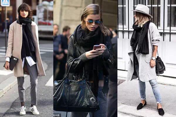 围巾怎么搭配外套 两用超长围巾的款式