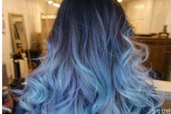 头发染蓝后能改色吗 不漂头发能染蓝黑色吗