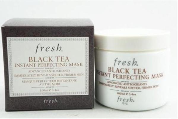 fresh黑茶面膜真假图片