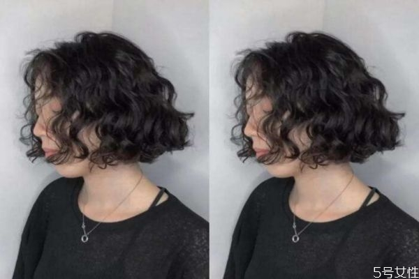 头发短可以烫吗 短发水波纹烫几号好看