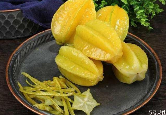 杨桃放食用碱是去农药还是去腊 吃之前为什么要去边