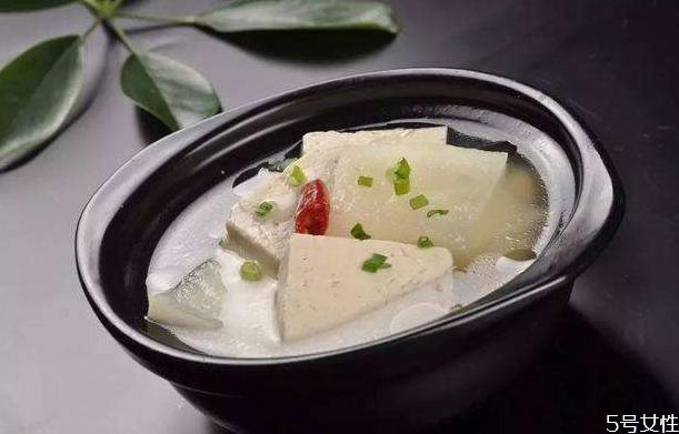 冬瓜豆腐汤能减肥吗 冬瓜豆腐汤的功效