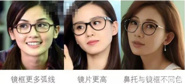 戴眼镜的妆容图片